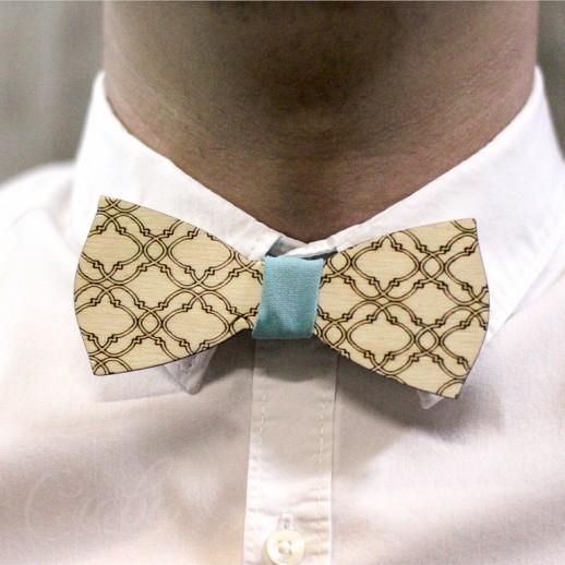 Деревянная галстук-бабочка из фанеры AB004