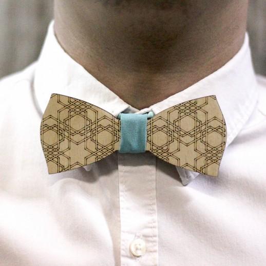Деревянная галстук-бабочка из фанеры AB007