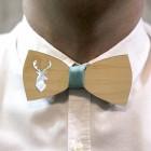 Деревянная галстук-бабочка из фанеры AB030