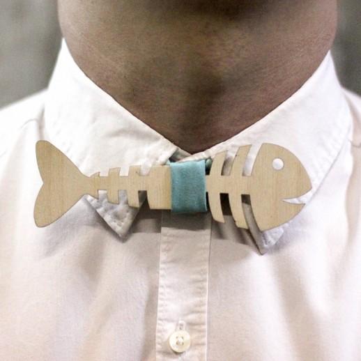 Деревянная галстук-бабочка из фанеры AB034