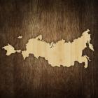 Деревянная карта России (силуэт) KM002