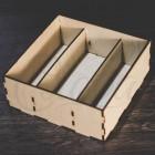 Коробка под цветы и сладости, 3 секции, фанера К004
