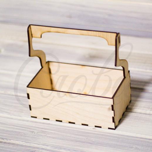 Ящик под цветы c деревянной ручкой , фанера К038