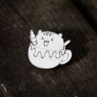 Значок Кот в кружке Z005