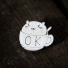 Значок Кот в кружке Z009