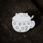 Значок Кот в кружке Z012